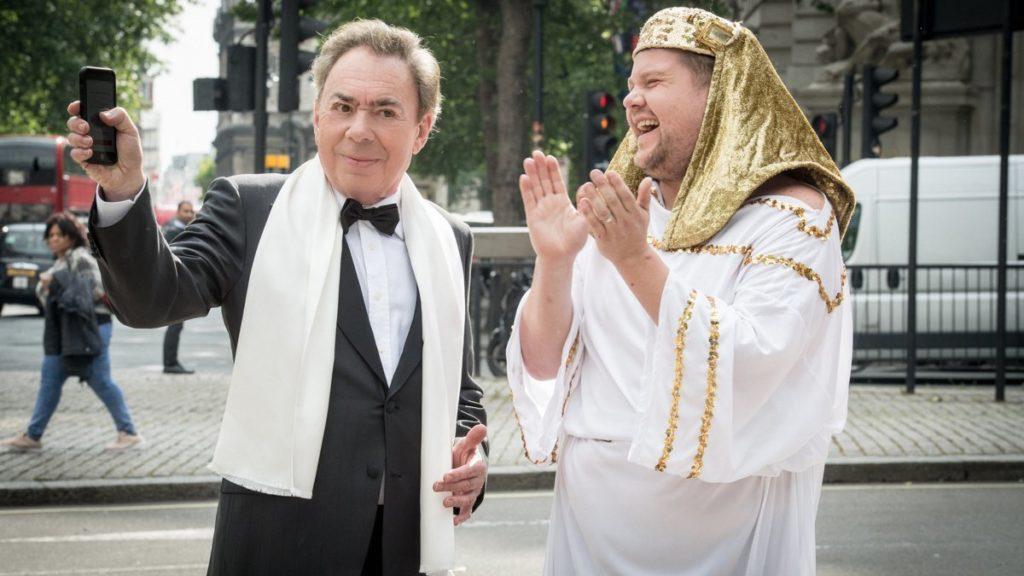 Andrew Lloyd Webber - James Corden - Crosswalk the Musical - 06/2018 - Craig Sugden/CBS