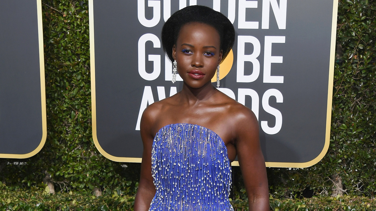 Lupita Nyong'o - Golden Globes - Jon Kopaloff/Getty Images - 1/19